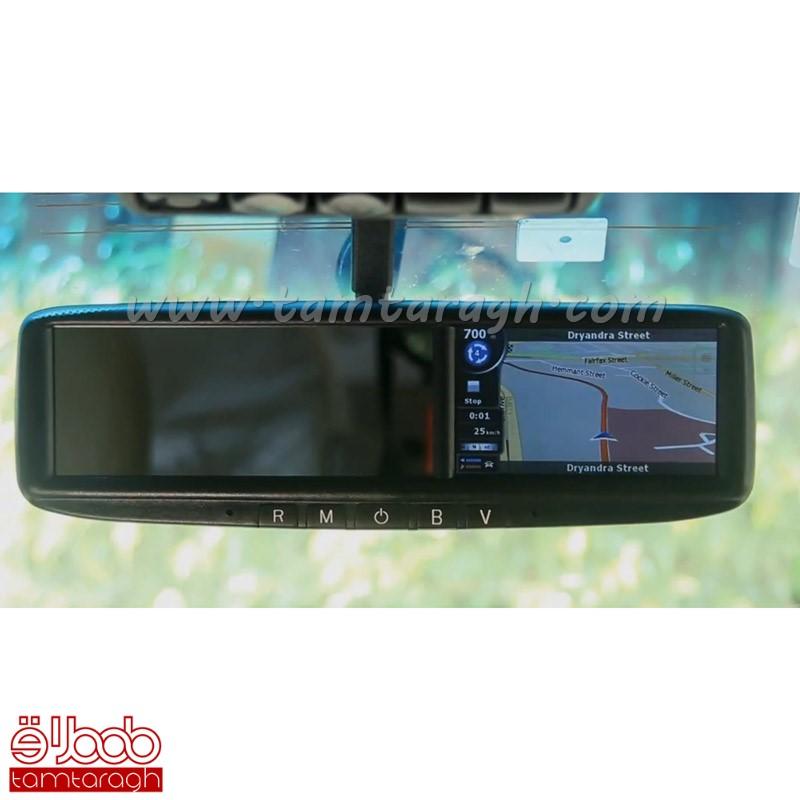 آینه پارک GPS با مانیتور 4.3 اینچ دارای بلوتوث مدل