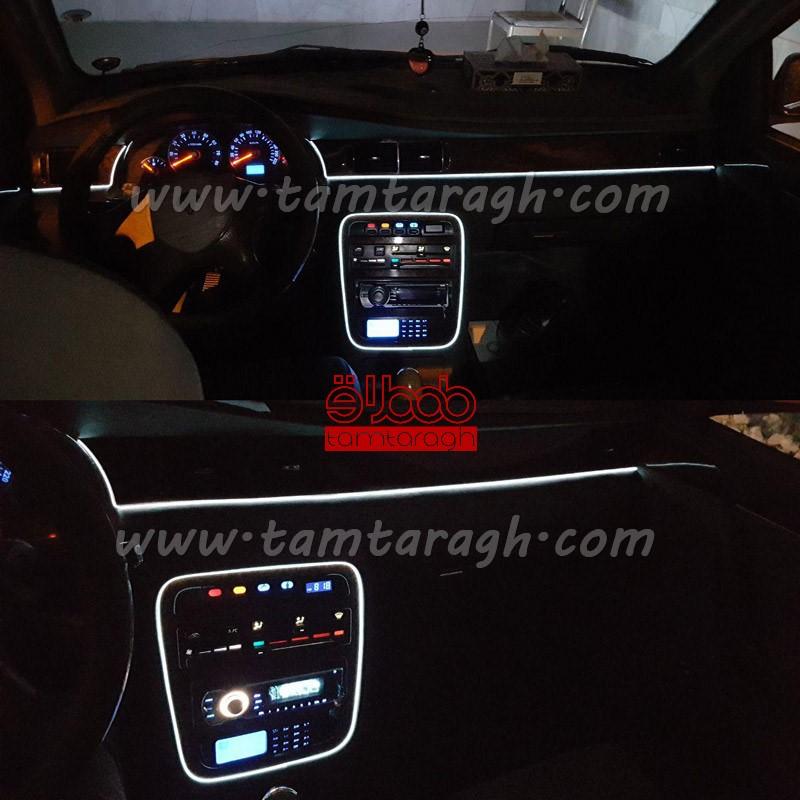 ال وایر (کلاف نوری) نورپردازی داخل خودرو 2 متری