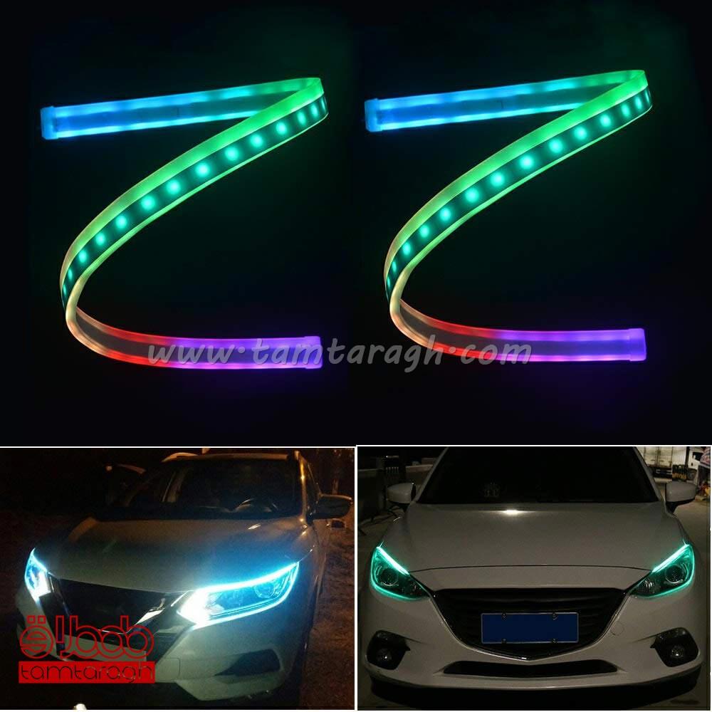 دی لایت فلکسیبل هفت رنگ-RGB متحرک (رانینگ) ریموت د