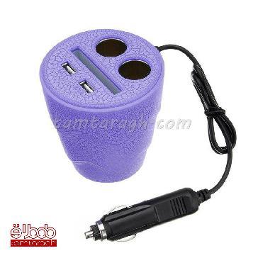 شارژر لیوانی USB و فندکی چراغدار مدل D24