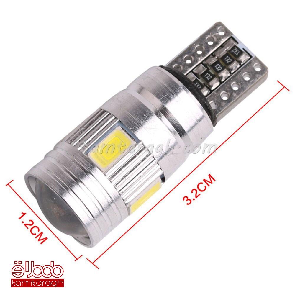 لامپ سکن ال ای دی لنز دار بدنه آلومینیوم 6 SMD